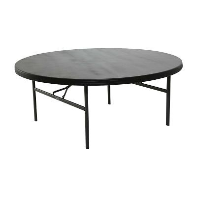Round Commercial Folding Tables Are Constructed Of High Density  Polyethylene And Are Stronger, Lighter And More Durable Than Wood.