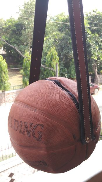 Upcycled Basketball Bag | Upcycled Crafts | Basketball ...