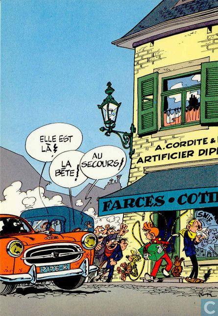 Carte postale - Bande dessinée: Robbedoes & Kwabbernoot - Trésors du Journal…