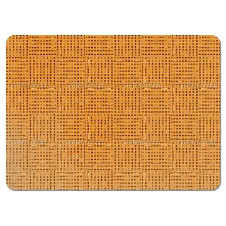 Uneekee Tilo Orange Placemats (Set of 4) (Tilo Orange Placemat) (Polyester, Geometric)