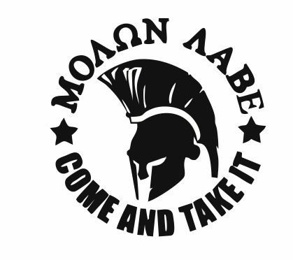 A personal favorite from my Etsy shop https://www.etsy.com/listing/242567472/molon-labe-spartan-helmet-decal-spartan