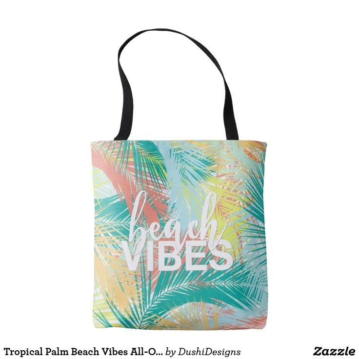 Tropical Palm Beach Vibes All-Over-Print Tote Bag