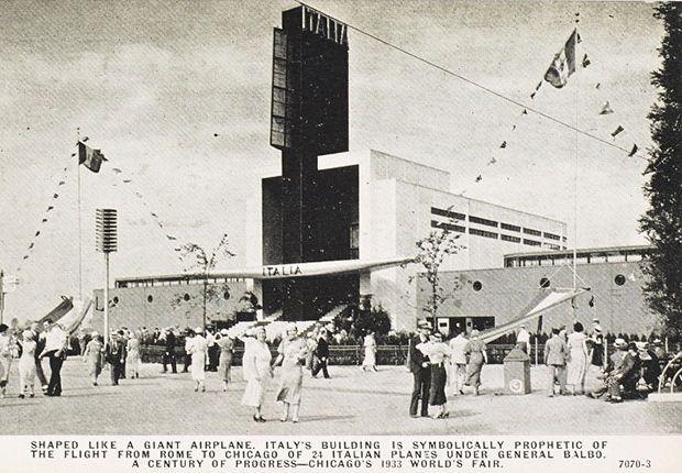 #Chicago 1933, #EsposizioneInternazionale - Il progresso di un secolo. Progetto di Mario De Renzi e #AdalbertoLibera.