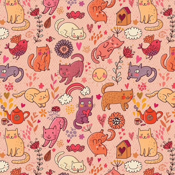 Julia Grigorieva | pattern with cats