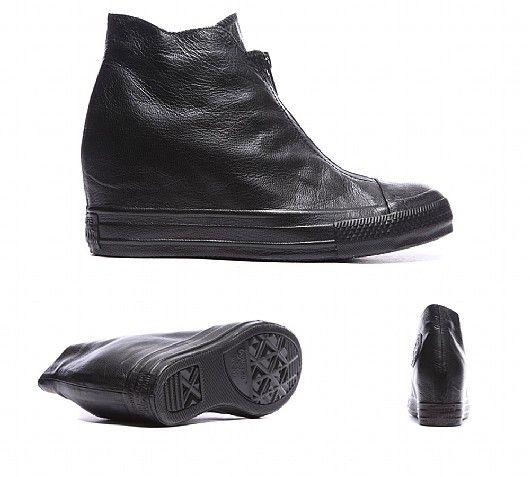 buymadesimple.com: Womens Chuck Taylor All Star Leather Luxury Shroud Trainer