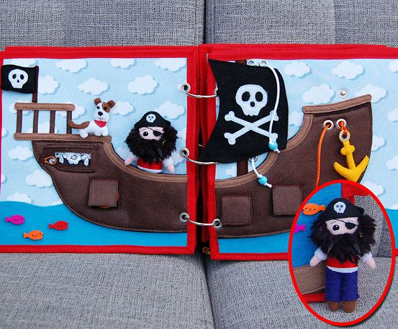Piratebook 2 Quiet book pages Pirate ship pirate PATTERN &