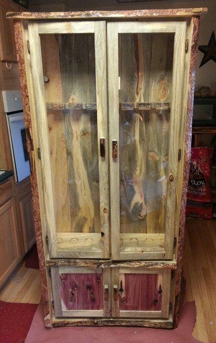 Gun Cabinet By Monte Pittman Lumberjocks Com Woodworking Community Diy Wood Amp Metal