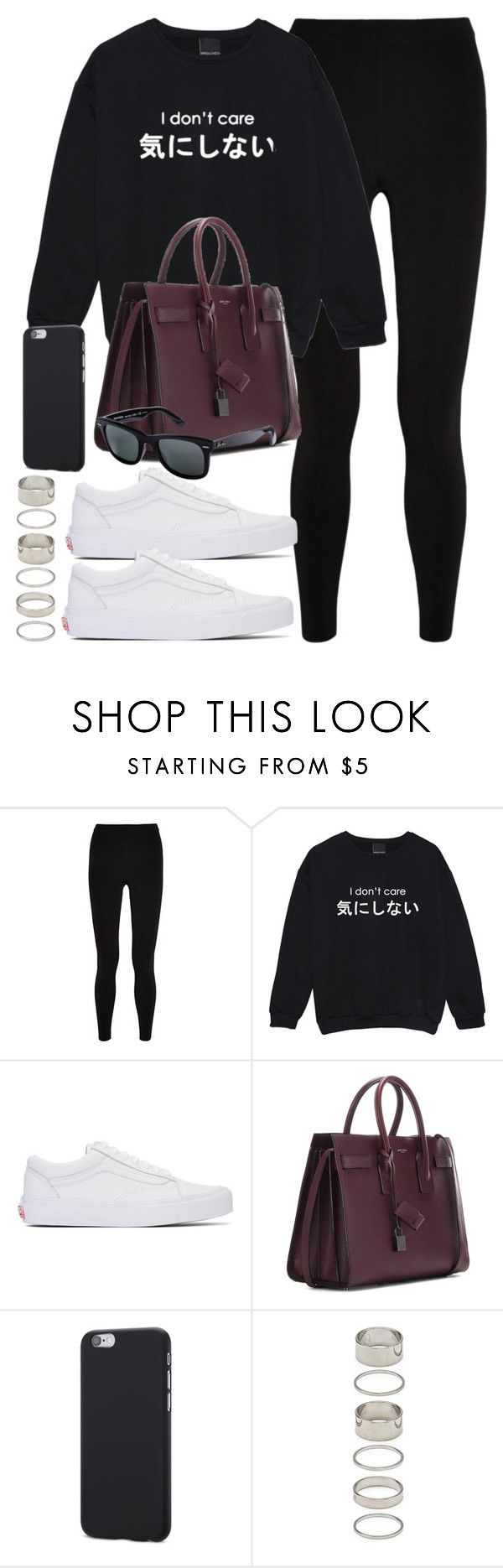 """Style #11365"" by vany-alvarado ❤ liked on Polyvore featuring T By Alexander Wang, Vans, Yves Saint Laurent, Ray-Ban and Forever 21"