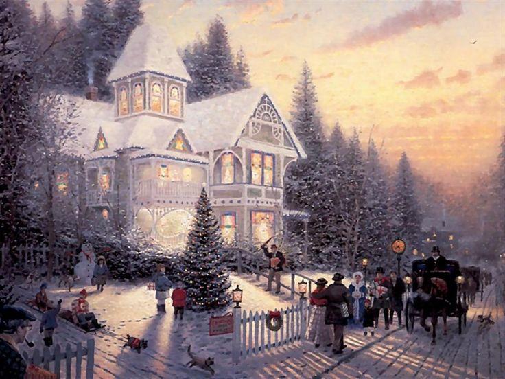 Thomas Kinkade Christmas Picture