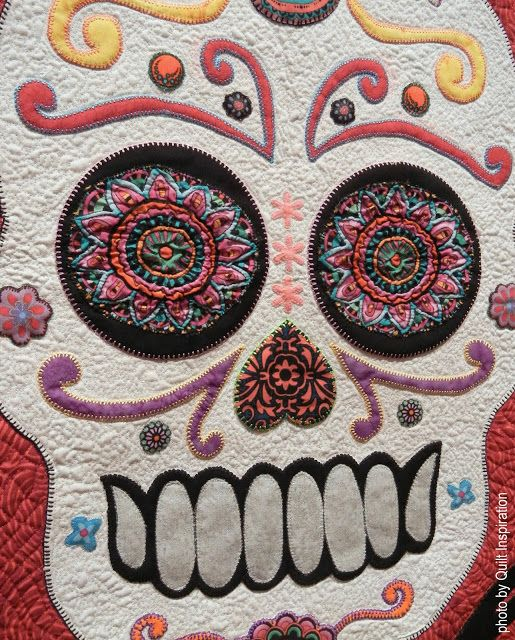 34 best Skull Quilts images on Pinterest | Artsy fartsy, Band ... : sugar skull quilt pattern - Adamdwight.com
