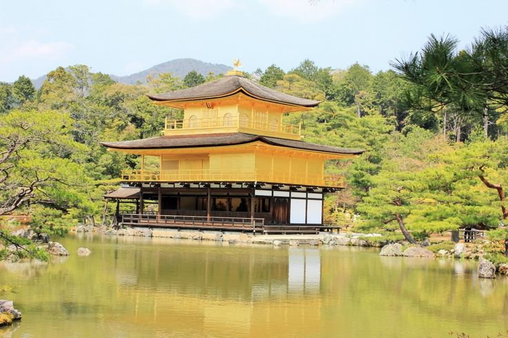 One of the must see Kyoto temples - Kinkakuji or the Temple of the Golden Pavilion. Golden, glimmery and gorgeous!