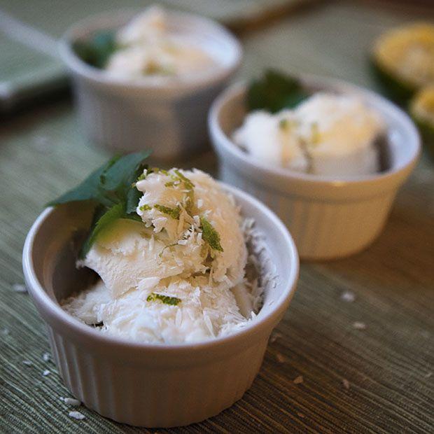 recept på hemgjord kokosglass med citrongräs