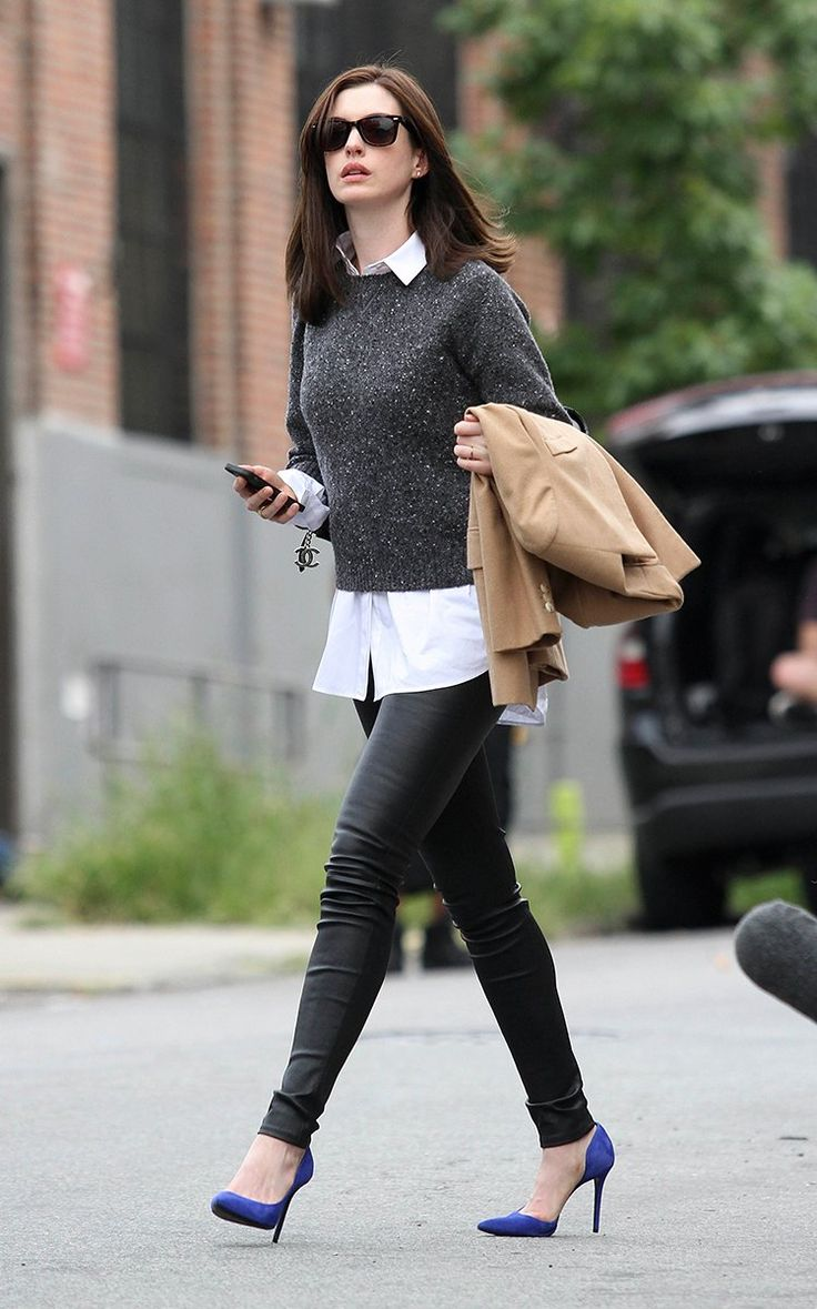 Anne Hathaway Does 5-Step Transitional Dressing - Vogue