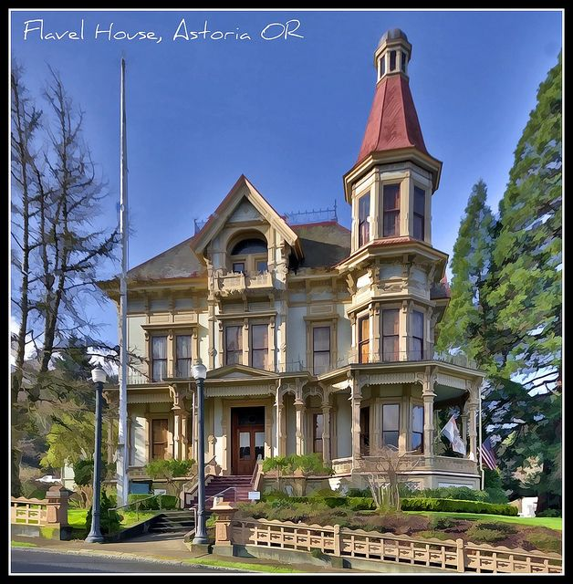 The Historic Gothic Revival Victorian Flavel House, Astoria OR. built in 1884-1885