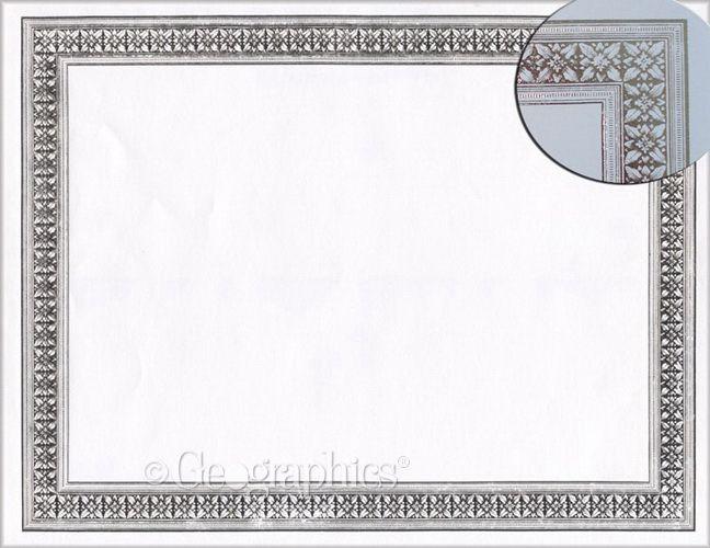 Flourish Silver Foil Award Certificates, 8.5x11, 12/PK