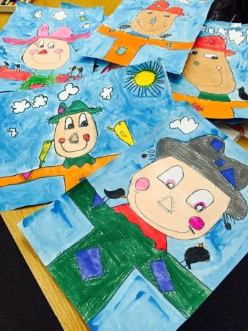 This project covers several of our elements of art and principals of design, including line, shape, color, repetition, balance, and the list goes on! We can also learn a little about more about drawi