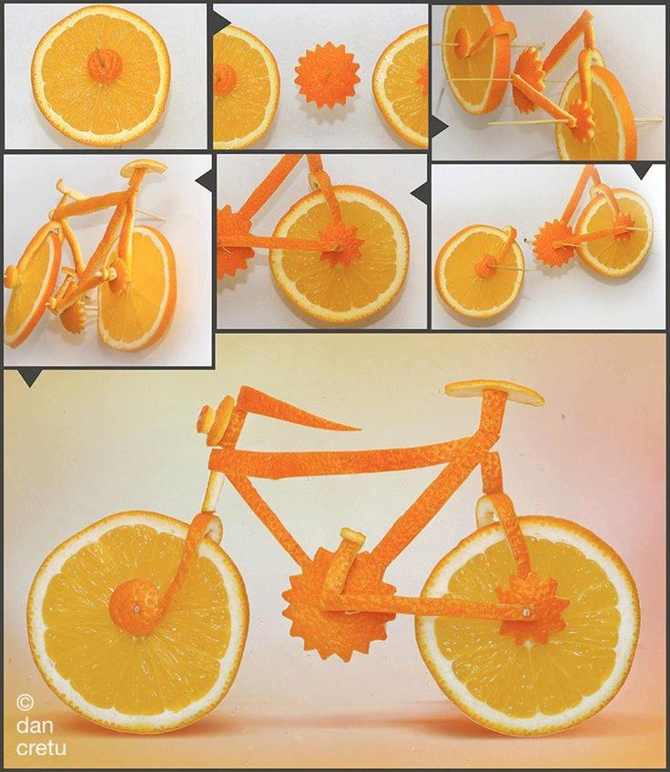 Il cibo è anche arte...Guardate che belle le sculture di frutta e verdura di Dan Cretu      http://www.greenme.it/vivere/arte-e-cultura/9241