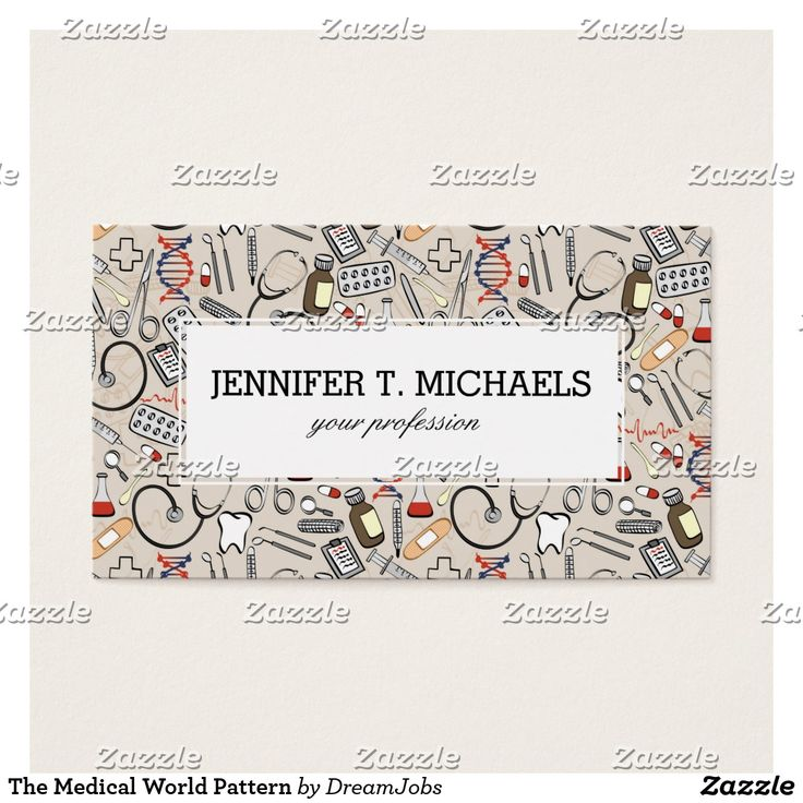 The Medical World Pattern. Producto disponible en tienda Zazzle. Product available in Zazzle store. #BusinessCard #tarjeta #card