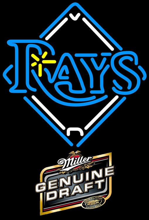 Miller Genuine Draft Tampa Bay Rays MLB Neon Sign 3 0009, Miller MGD with MLB Neon Signs | Beer with Sports Signs. Makes a great gift. High impact, eye catching, real glass tube neon sign. In stock. Ships in 5 days or less. Brand New Indoor Neon Sign. Neon Tube thickness is 9MM. All Neon Signs have 1 year warranty and 0% breakage guarantee.