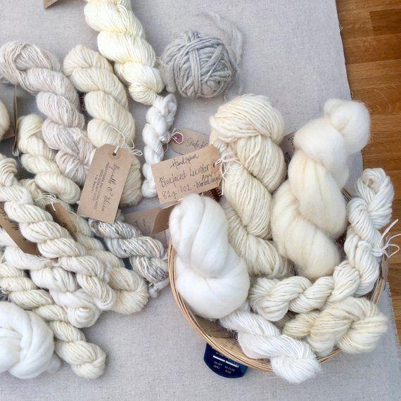 All Natural Fibre And Yarn Weaving Pack 200g Random Selection Weave Hand Spun Yarn Wool Tops Fibre Bundle Weaving Projects Weaving Yarn