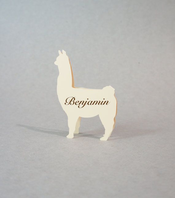 Wedding Place Cards - Place Cards - Alpaca Place Cards - Farm Animals - Zoo - Escort Cards - Animals - Rustic Wedding - set of 100