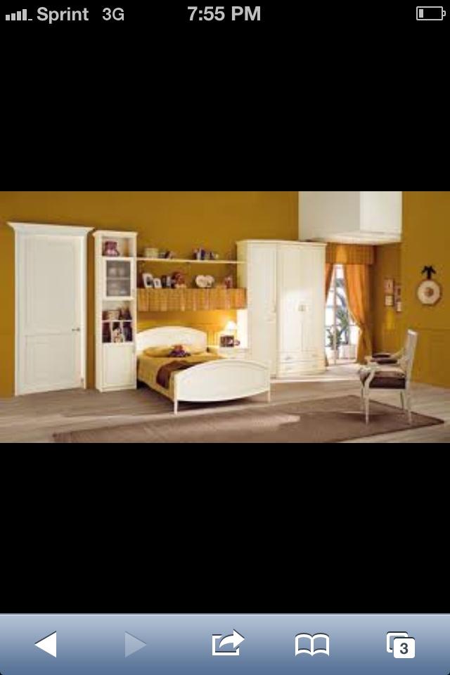 Retro bedroom wall color