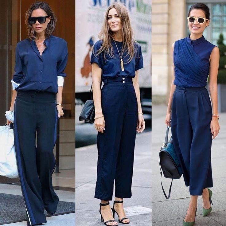 💥 DESAFIO DOS 3 LOOKS - Azul Marinho 💥 . Qual destes looks você ...