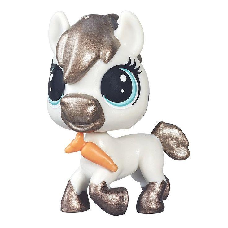 Littlest Pet Shop Single Pet Steady Saddler #119 Horse Pony - Glimmer pet Rare