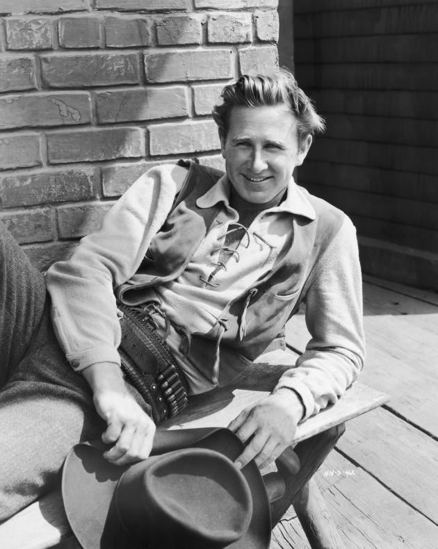 HIGH NOON (1952) - Lloyd Bridges on location at Columbia Pictures - Directed by Fred Zinneman - United Artists - Publicity Still.