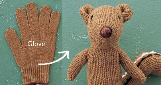 Glove Chipmunk: Squirrels, Teddy Bears, Toys, Diy'S Projects, Chipmunks, Gloves, Projects Idea, Stuffed Animal, Crafts