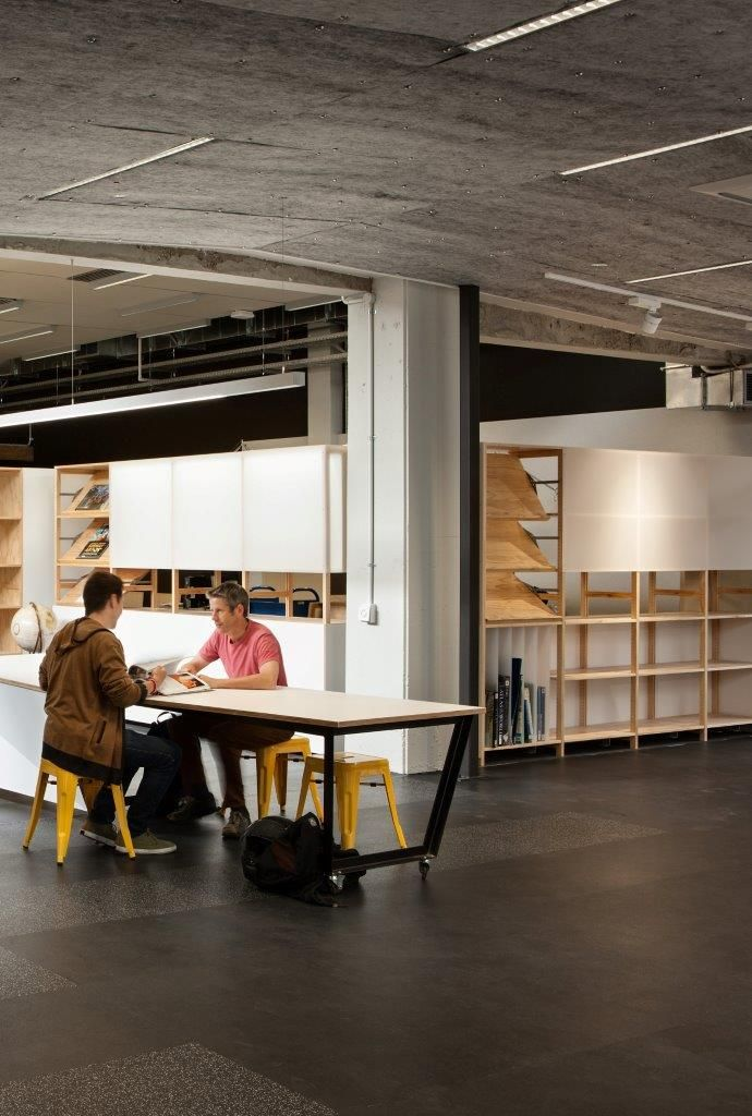 Massey Library Wellington Project by Athfield Architects.  Photographer - Simon Devitt. Shelving by Lundia