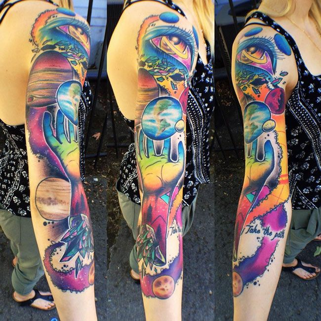 Space Sleeve http://tattooideas247.com/space-sleeve/