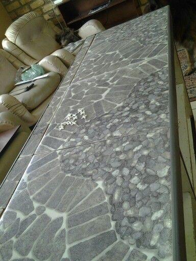 Mosaic top kitchen counter