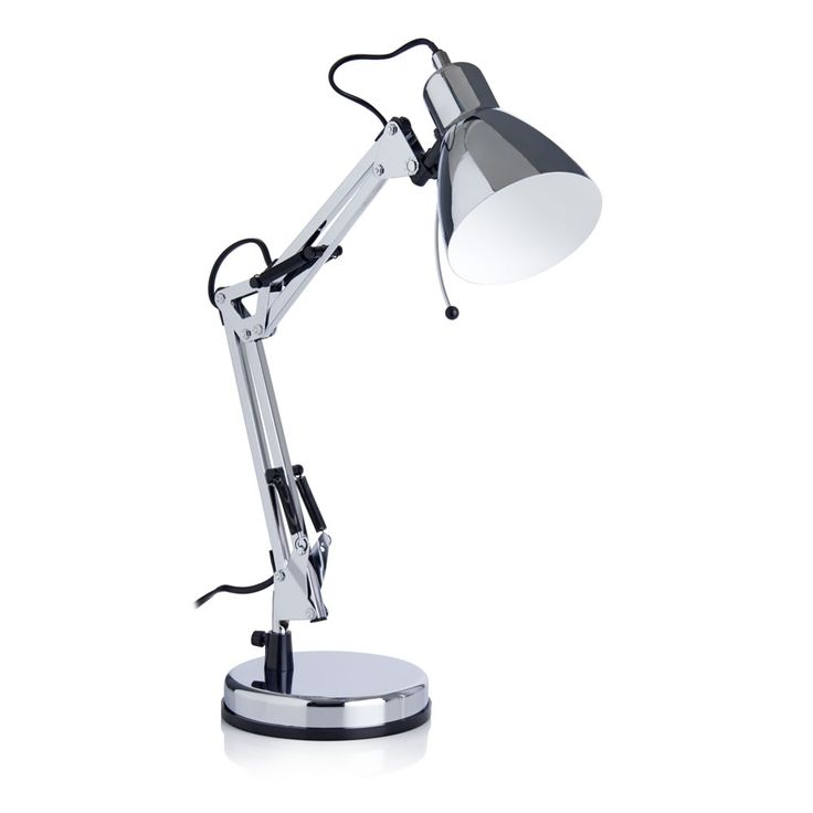 Wilko Angle Task Lamp Chrome