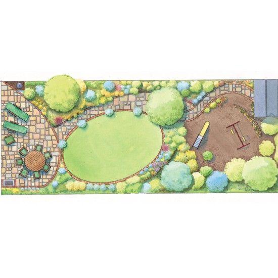 Garden Design Rectangular Plot 9 best small garden inspiration images on pinterest | landscaping