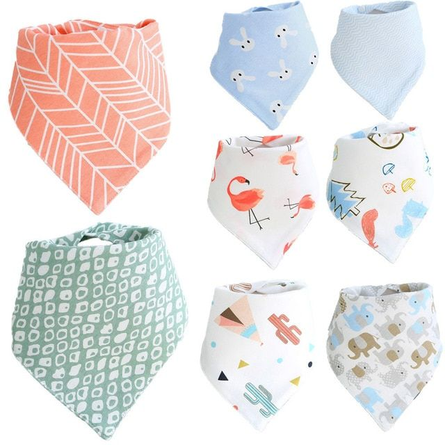 Fashion Dribble Towel Children Apron   Feeding Smock Baby Bibs Triangle Scarf