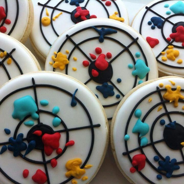Paintball cookies would be great for a Bar Bat Mitzvah.