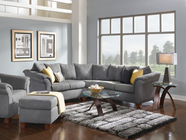 Exceptional Adrian Graphite 4 PC Living Room Package   Value City Furniture.  #VCFwishlist Part 32