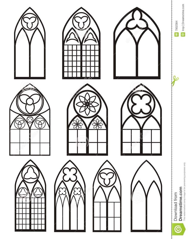 Windows In Gothic Style Stock Images - Image: 7902384