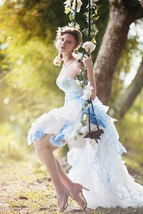 If there isn't a swing there already, you should hang one before the wedding... You could get so many sweet shots!