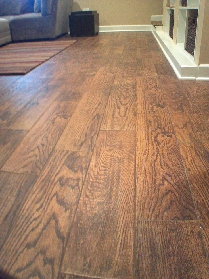 Best 25 wood look tile ideas on pinterest wood looking for Best tile for basement floor