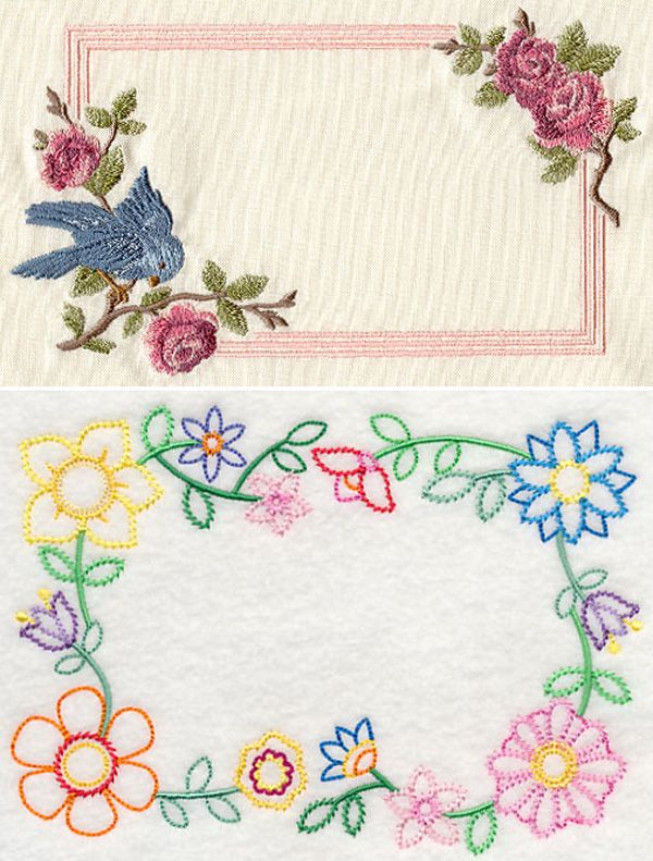 Vintage machine embroidered quilt labels. What to include on a quilt label.