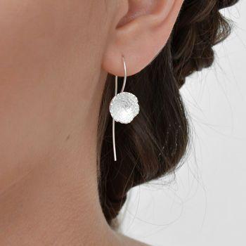 Sterling Silver Flower Dish Earrings