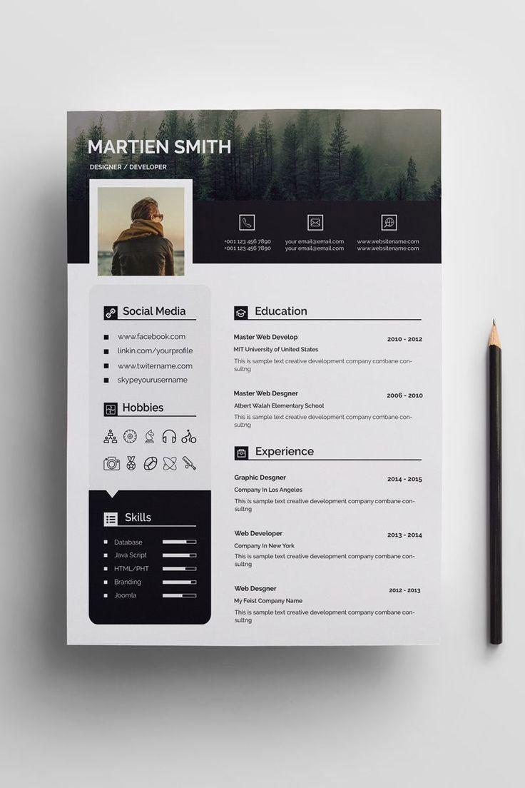 Martien Smith Cv Resume Template 72015 Graphic Design Resume