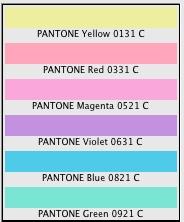 PANTONE pastel coated.