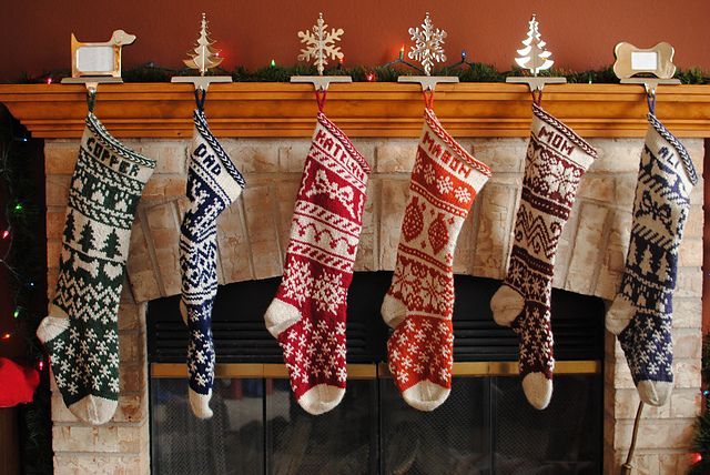 Ravelry: Mix-it-Up Christmas Stocking Stranded Colorwork pattern by Terry Morris