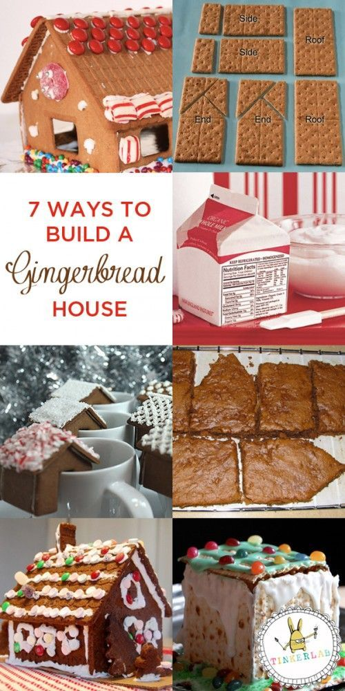 7 Ways to Make a Gingerbread House | TinkerLab.com