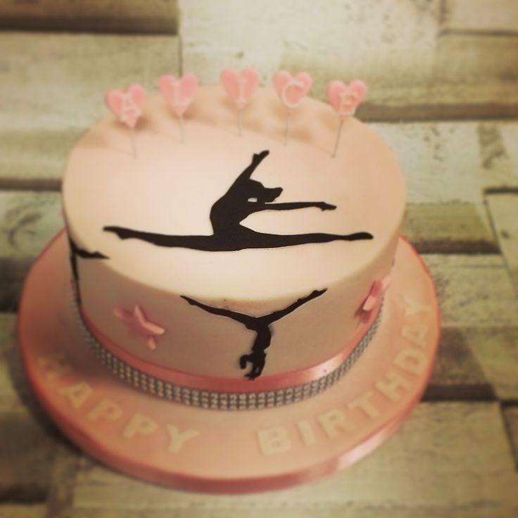 Gymnast Cake Cake Gymnastics Shiloutte 171 Cakes