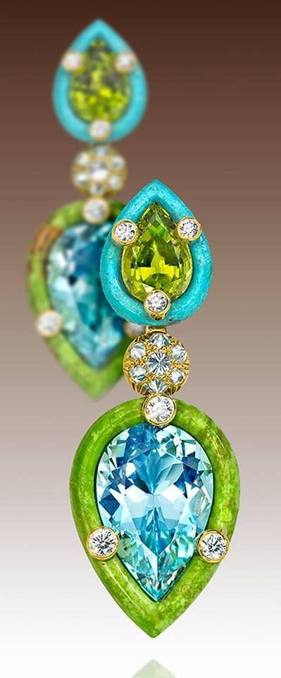 Aquamarine Earrings by Varney