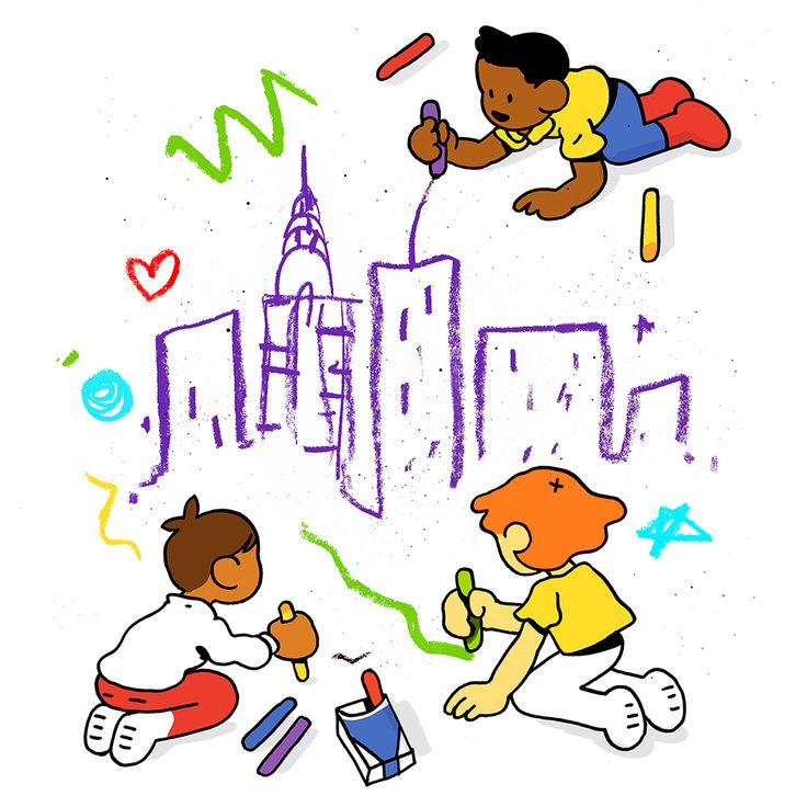 Illustration by Jackie Ferentino for the New York Times about universal Pre-K in NYC